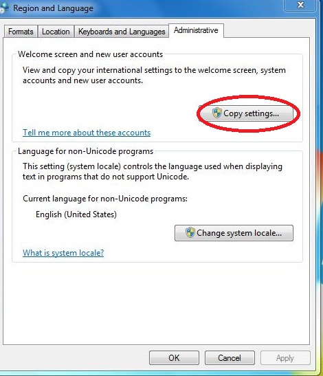 Display language bar at logon screen in windows 7
