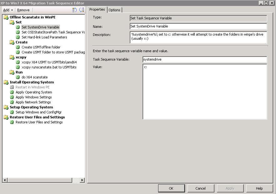 WindowsXP to Windows7 64bit Migration in WinPE offline
