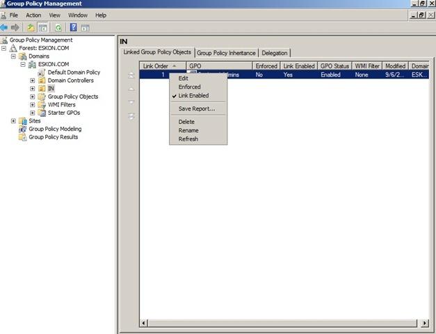 how to add in gpo script admin credentials