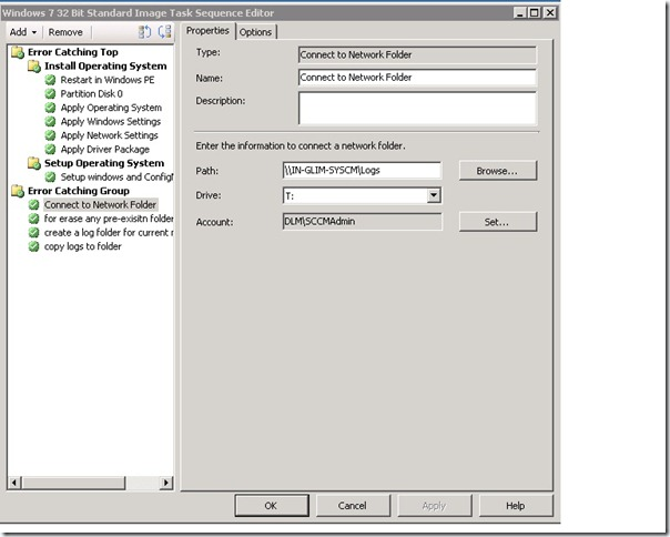 copy the smsts log files to a share(SCCM server) if Task sequence Fails in deploying OS