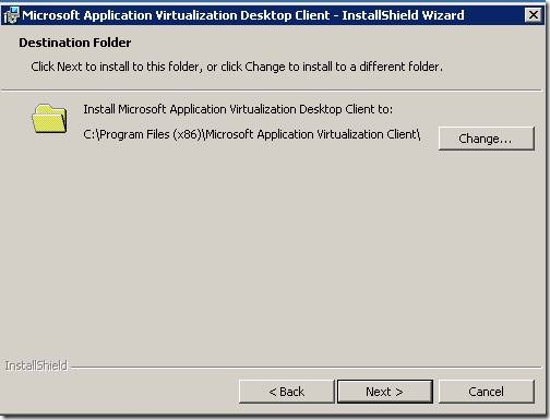 clip image00210 thumb Installation of Microsoft Application Virtualization(4.6) Desktop Client
