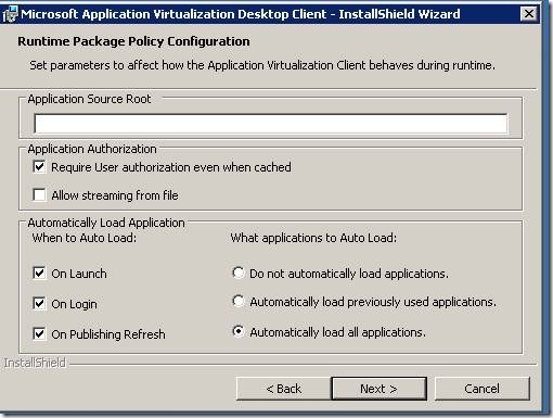 clip image00216 thumb Installation of Microsoft Application Virtualization(4.6) Desktop Client
