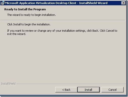 clip image00220 thumb Installation of Microsoft Application Virtualization(4.6) Desktop Client