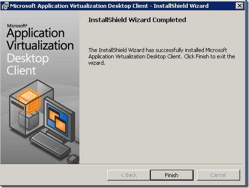 clip image00224 thumb Installation of Microsoft Application Virtualization(4.6) Desktop Client
