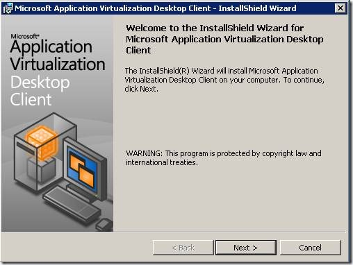 clip image0024 thumb Installation of Microsoft Application Virtualization(4.6) Desktop Client