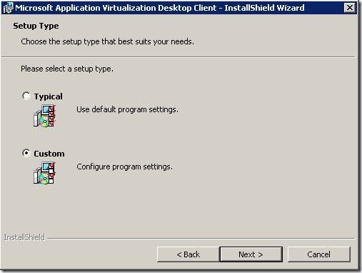 clip image0028 thumb1 Installation of Microsoft Application Virtualization(4.6) Desktop Client