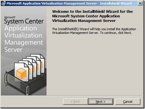 clip image002 thumb1 Installation of App V 4.6 Management Server in Windows Server 2008