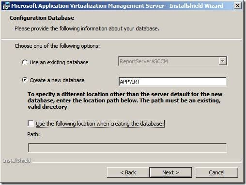 clip image014 thumb Installation of App V 4.6 Management Server in Windows Server 2008