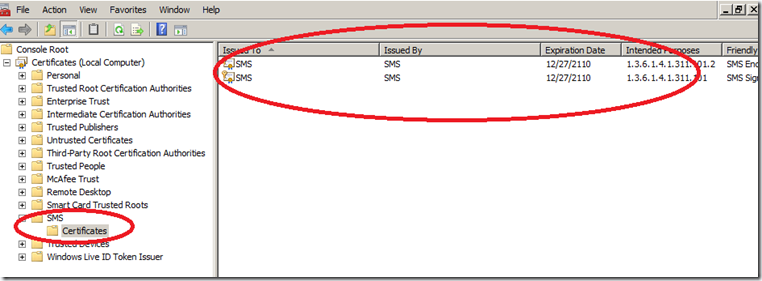 what are SCCM client Certificates(where are they stored)