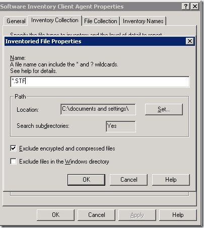 SCCM report to inventory file types like pst,ost,SFT etc