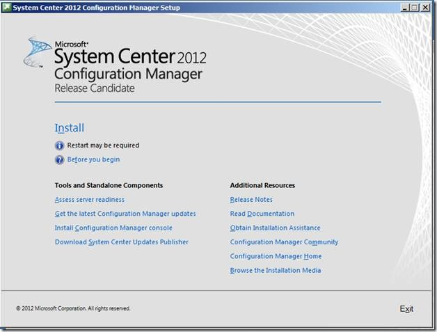 clip image002 thumb1 Installation of ConfigMgr(SCCM) 2012 RC2