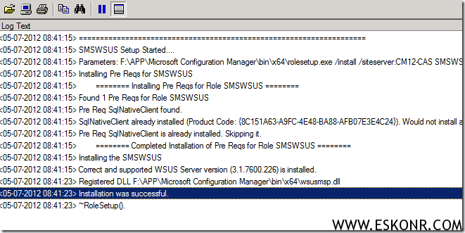 image thumb18 Installation of Software Update Role in SCCM 2012