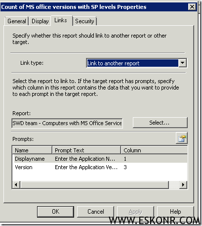SCCM Linked report MS Office Version with Service Pack installed machines