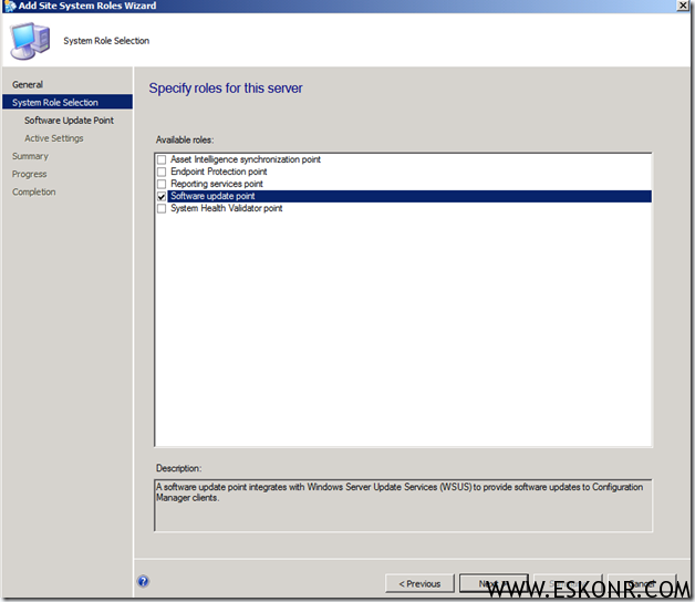 image thumb7 Installation of Software Update Role in SCCM 2012