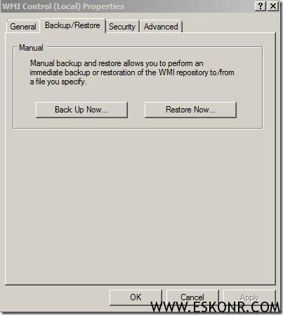 Failed to open WMI Namespace virtualapp.log
