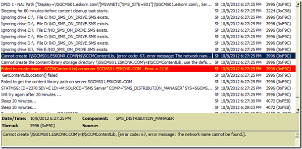 image thumb15 #SCCM / #Configmgr 2012 DP Error Failed to Create Share SCCMContentLib$ Error=2116
