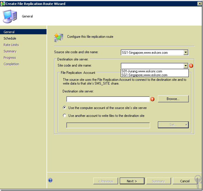 image thumb3 #SCCM / #Configmgr 2012 configure Address Replication and Control the network Load