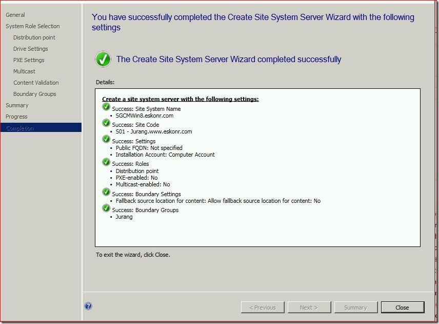 12 thumb #SCCM / #Configmgr 2012 Configure DP Role on Windows 8 workstation