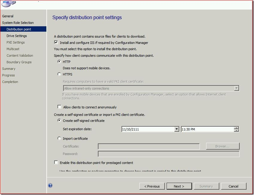 4 thumb #SCCM / #Configmgr 2012 Configure DP Role on Windows 8 workstation