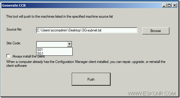 image21 thumb1 SCCM Configmgr 2012 Client Push Installation Tool ClientpushGenerator.exe.