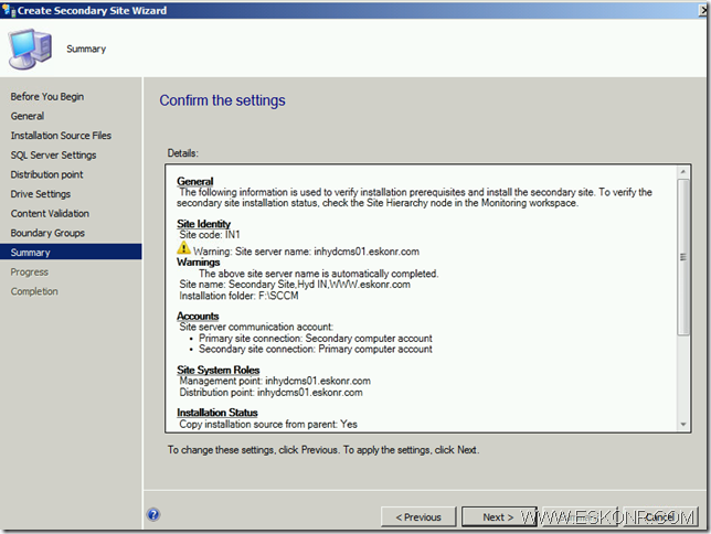 image thumb40 Install SCCM Configmgr 2012 Secondary Site step by step with prerequisites