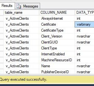 Download SCCM Configmgr 1602 SQL views documentation