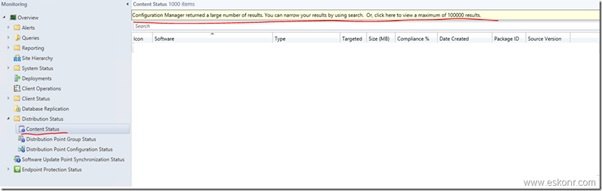 SCCM Configmgr 2012 SSRS Report Content Status with Compliance – Console View