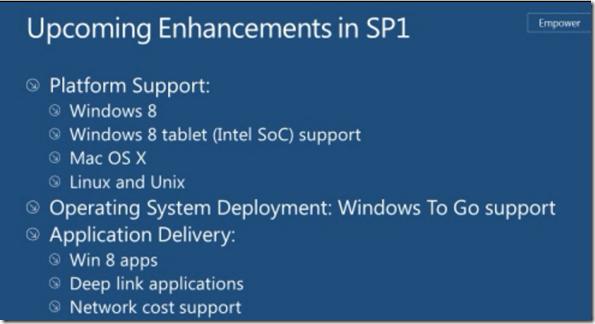 #SCCM / #Configmgr 2012 SP1 Upcoming Enhancements