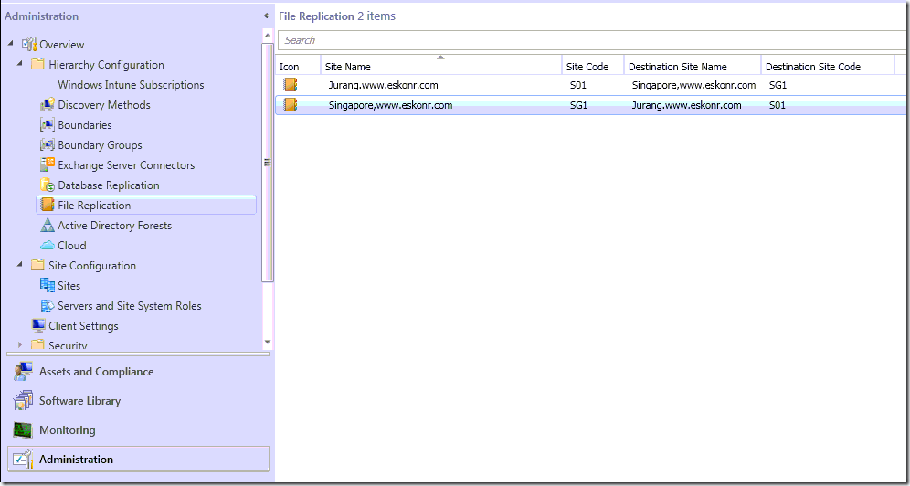 #SCCM / #Configmgr 2012 configure Address Replication and Control the network Load