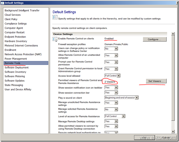 Configmgr 2012 Remote control How to get Rid of Local security group ConfigMgr Remote Control Users
