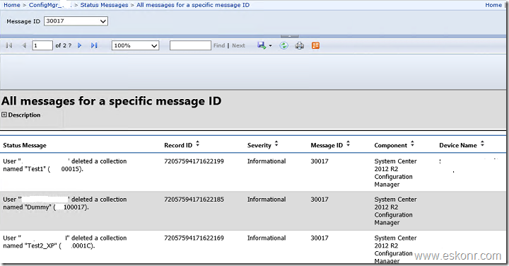 SCCM Configmgr 2012 way to find Who Created modified Deleted the collection using SSRS Reports