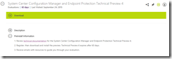 Download and Install SCCM Configmgr Vnext Technical Preview 4