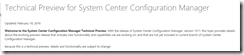 SCCM Configmgr 1602 Available for Technical Preview 4