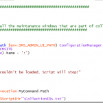 SCCM Configmgr Powershell script to remove the Maintenance Window on list of collections