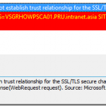 SCCM Configmgr SUP sync error The underlying connection was closed  Could not establish trust relationship for the SSL/TLS secure channel
