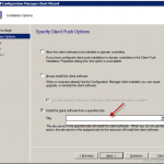 Configmgr Client push installation install the client software from specified site is blank