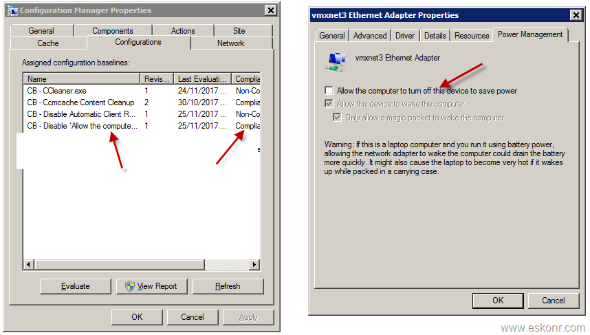 How to change Power Management settings using Configmgr