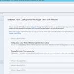 SCCM Configmgr Technical Preview 1801 available