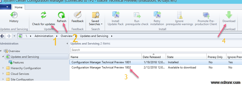 SCCM Configmgr Technical Preview 1802 available | Eswar Koneti Blog