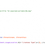 Powershell script to run automated tasks for O365 using stored credentials