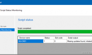 Using Scripts to trigger software updates remotely from the SCCM console