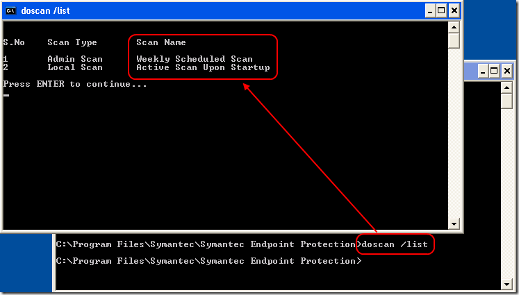 The New features of the DoScan.exe on SEPM11