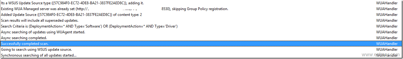 SCCM Configmgr 2012 Software Update Scan error Group policy settings were overwritten by a higher authority Error Code 0x87d00692