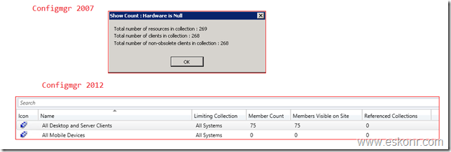 Configmgr SSRS Report List all collections with count of client installed assigned active and Obsolete