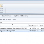 SCCM Configmgr Current Branch update 1610 available