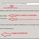 SCCM Configmgr How to get list of deployments set to ignore maintenance window and Reboot Outside maintenance window