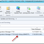 Configmgr 1710 Hotfix Rollup (KB4057517) is available