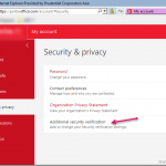Why is Additional security verification option (MFA) not available in office 365 user portal