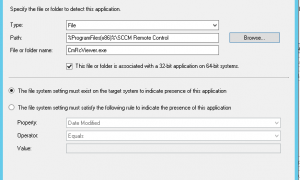 How to deploy SCCM Remote Control Bits (standalone) to clients without ConfigMgr Console being installed