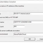 Configuration Manager Remote control for CMG Connected devices